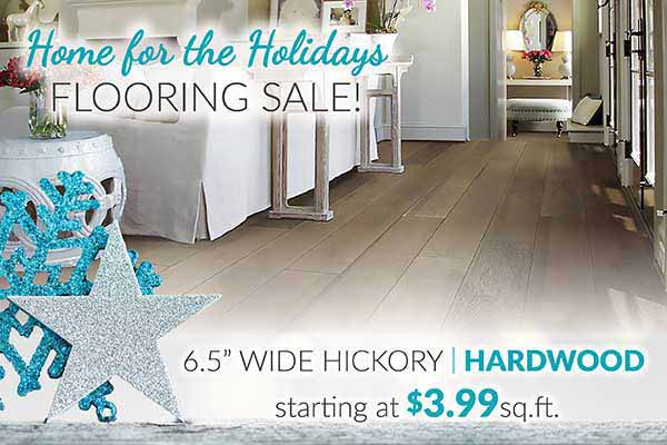 Hickory Hardwood Flooring starting at $3.99 sq.ft. during our Home for the Holidays Sale at Bell Carpet & Floors in Wichita, KS