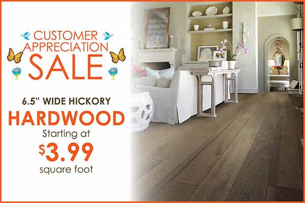 Hardwood Flooring starting at $3.99 sq.ft. during our Customer Appreciation Sale in Wichita