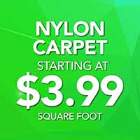 Nylon carpet on sale starting at $3.99 sq. ft. during our National Gold Tag Flooring Sale.
